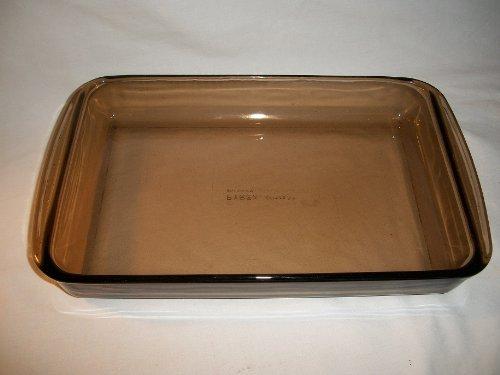 Pyrex #22 Amber Brown Casserole Lasagna Brownie Baking Dish Pan