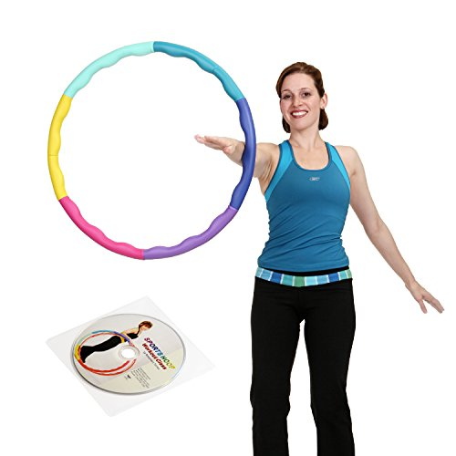 Weight Loss Sports Hoop Series: Acu Hoop 2S - 1.5lb (35.5 inches wide) Small, Weighted Fitness Exercise Hula Hoop with 40-minute Workout DVD