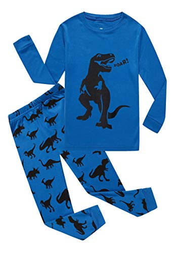 Family Feeling Dinosaur Little Boys Long Sleeve Pajamas Sets 100% Cotton Pyjamas Toddler Kids Pjs Size 4T -
