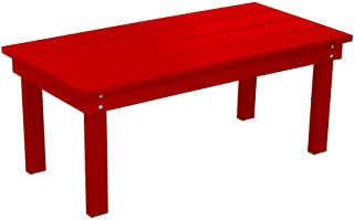 product image for Outdoor Hampton Rectangle Coffee Table - Bright Red Poly Lumber - Recycled Plastic