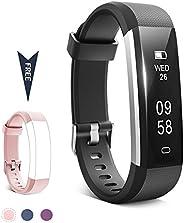 TwobeFit Fitness Tracker Waterproof Fitness Watch Color Screen Heart Rate Sleep Monitor Activity Tracker Pedom