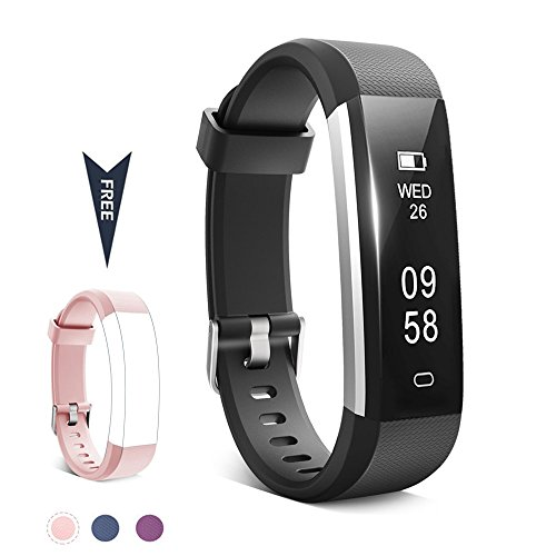 TwobeFit Fitness Tracker, Waterproof Activity Tracker with Sleep Monitor Pedometer Step Counter Smart Watch Bracelet Bluetooth Wristband for Kids Women Men for Android/IOS Cellphone (B-pink) by TwobeFit