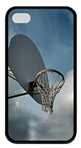 Basketball pc Silicone Case Cover for iPhone 4/4S Black Thanksgiving Day gift