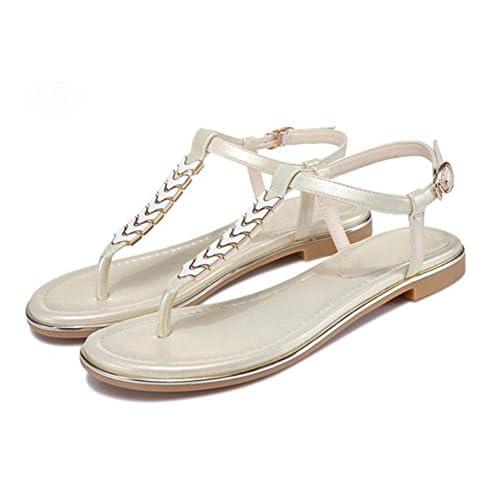 c1818f8d Xia Jiping sandalias de las mujeres inferiores sandalias de playa clip de  dedo del pie Barato