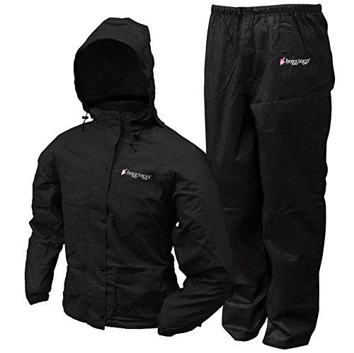 Frogg Toggs BLACK Women's All Purpose Rain Suit Gear Wear Ja