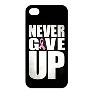 the Case Shop- Never Give Up TPU Rubber Hard Back Case Silicone Cover Skin for iPhone 4 and iPhone 4S , i4xq-509