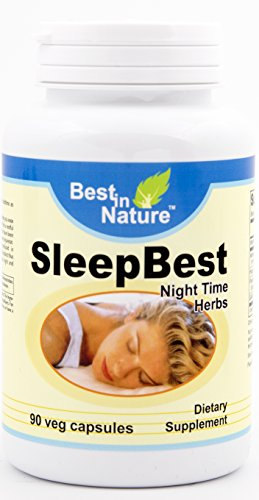 SleepBest - Relieve stress, fall asleep faster and promotes healthy sleep patterns with vitamins such as valerian root extract, passion flower extract, strobiles and gamma aminobutyric acid. Created b (Aminobutyric Acid Sleep Gamma)