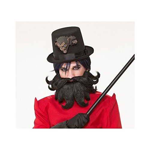 Fancy Face Paint Color Halloween Brown Beard And Mustache]()