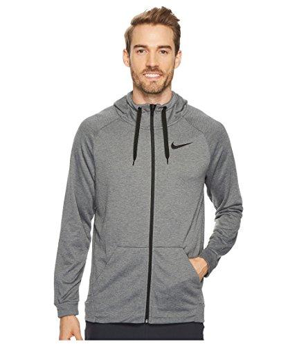 Nike Mens Dri-Fit Fleece Hoodie Charcoal Heather/Black 860465-071 Size X-Large