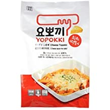 Yopokki Prepared Korean Rice Cake Instant Packet (1 Pack, Cheese)