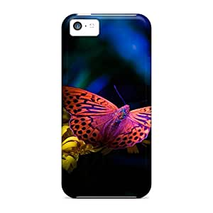 Durable Hard Cell-phone Cases For Iphone 5c With Provide Private Custom HD Butterfly Pattern LauraAdamicska