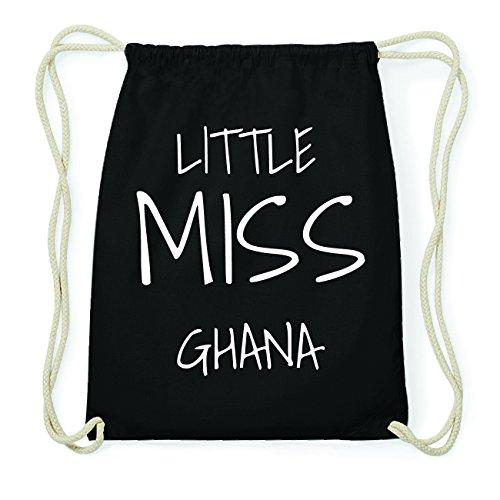 JOllify GHANA Hipster Turnbeutel Tasche Rucksack aus Baumwolle - Farbe: schwarz Design: Little Miss dGz2lFp6Ky