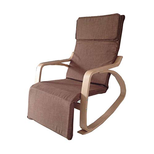 JFya Folding Chair Rocking Chair Recliner Adult Balcony Leisure Sofa Chair Old Man Napping Chair Easy Chair Nordic Wood Lazy Rocking Chair