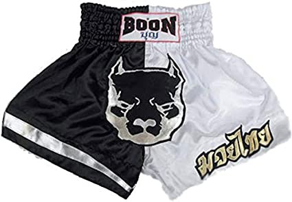 Boon Muay Thai Black and Gold Shorts