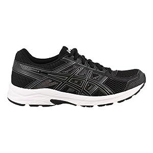 ASICS Women's Gel-Contend 4 Running-Shoes, Black/Black/Carbon, 8 D US