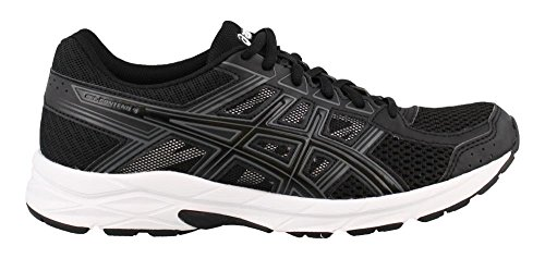 ASICS Womens Gel-Contend 4 Running Shoe, Black/Carbon, 8 Medium US