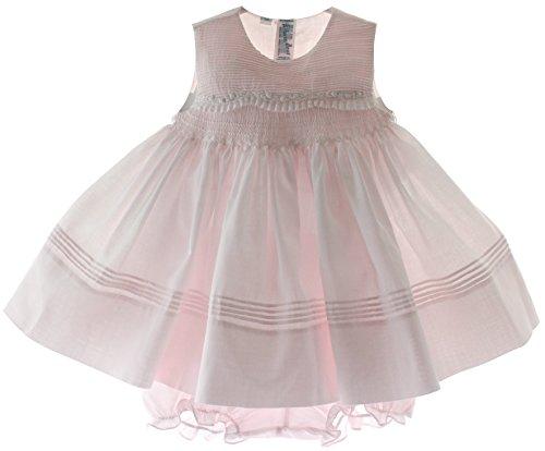 Sleeveless Brother - Feltman Brothers Baby Girls Pink Sleeveless Portrait Dress (3M)