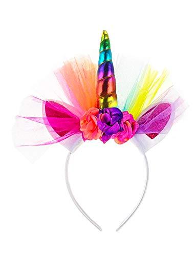 Gorse Unicorn Hair Hoop Headband Cosplay Costume Easter Headpiece Princess Artificial Flowers Girl Women Rainbow