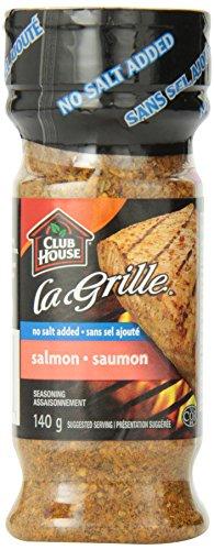 Club House La Grille, Grilling Made Easy, Salmon Seasoning, Salt-Free 140g/4.9oz