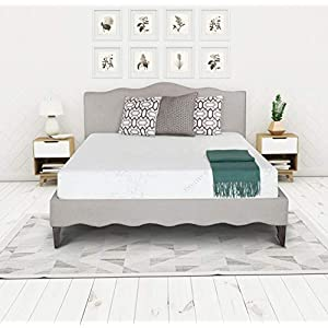 Irvine Home Collection 8-Inch Gel Memory Foam, Medium-Firm, Temperature Balanced Bed Mattress Conventional, Twin, White