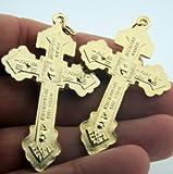 Gold Tone Behold This Heart Pectoral Pardon Cross