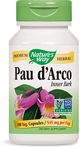 Inner Bark 100 Capsules - Nature's Way Pau D'Arco Inner Bark Capsules, 545mg, 100-Count
