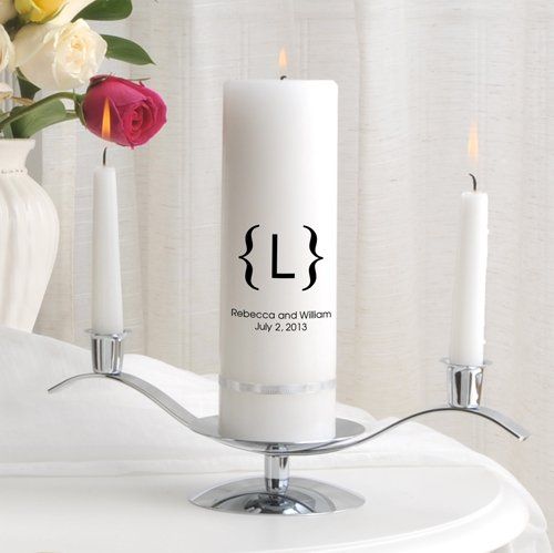 Personalized Wedding Unity Candle - Personalized Unity Candle Set - Scroll