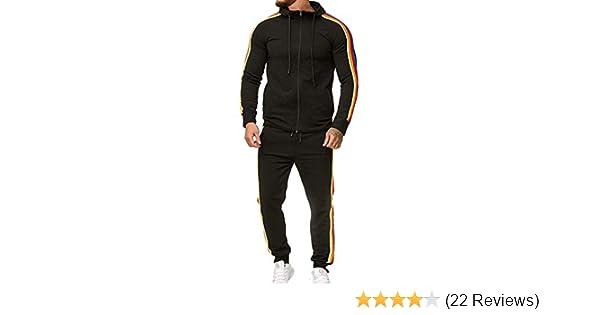 Men Sweatshirt Pants Tracksuit Hoodies Sets Sport Wear Zipper Tops Bottoms Hot