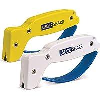 AccuSharp - KnifeToolSharpeners-P Knife Sharpener & ShearSharp Scissor Sharpener Combo Pack, Knives and Tools Sharpening…