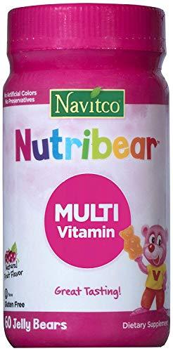 Navitco. Kosher NutriBear Multi Vitamin Great Tasting Jellies – 60 Bears