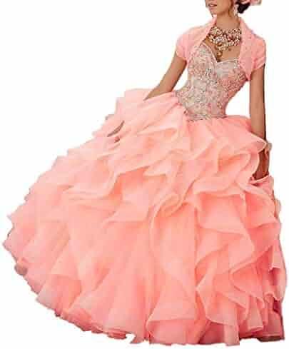 ac7ad959f6 ANFF Sweet 16 Big Girls Strapless Ruffled Beadings Rhinestones Quinceanera  Dresses