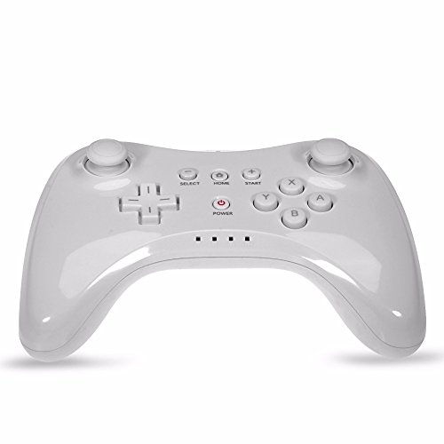 ual Analog Bluetooth Wireless Gamepad USB U Pro Game Gaming Remote Controller for Nintendo for Wii U White Black[ White ] ()