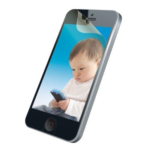 補助金苦抜け目のないELECOM iPhone SE/5/5S/5C 保護フィルム エアーレス ブルーライトカット 反射防止 PS-A13FLBLA