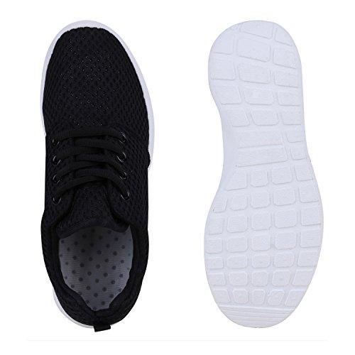 Damen Sportschuhe Stiefelparadies Übergrößen Schwarz Flandell Black Laufschuhe Herren Unisex gwwTFBnqS5