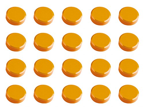 Maul 30 mm 0.6 kg Maulpro Round Magnet for Whiteboards - Orange (Pack of 20) by Maul