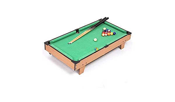 NO BRAND Mini Piscina Juego de Mesa De Mesa en Miniatura Pool Juego Set for Adultos niños Mini-Piscina Mesa de Billar de Mesa Juguete Tabla Top Pool Juego (Color, Size : 69x37x22cm):