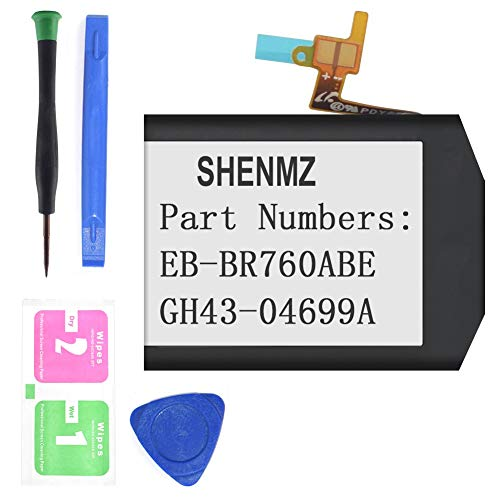 SHENMZ (Upgraded) Replacement Battery for S3 Frontier SM-R760, S3 Classic R770, R760, R770, BR760, R765 EB-BR760A [3.85V 380mAh] GH43-04699A (12 Month Warranty)