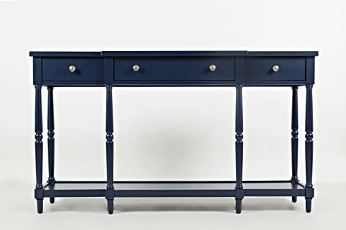 "Jofran: 1633-60, Stately Home, 60"" Console, 60""W X 14""D X 34""H, Navy Finish, (Set of 1)"