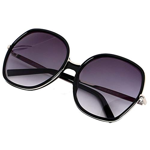 (ANDWOOD Oversized Sunglasses Big Large Women Square Wide Black Brown Retro Trendy Pink)