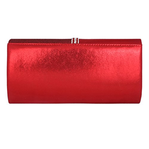 Clutch Main Long la Rouge à Soirée Cuir Mode Pochette Bleu foncé Adoptfade Sac Femme PU de Sac à ZCYnOPqvw