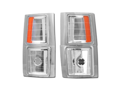 Front Side Clear Marker Euro (HS Power Euro Amber Signal Parking Corner Lights Lamps 94-00 Chevy C10 Ck C/K Pickup/Suv)