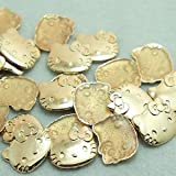 Garment Rivet - Rivet Accessories Hot-Fix Rivets Cat 18Mm Gold Rivets Plating Spikes for Clothing Close-End Studs Decorations Crafts - (Color: Antique Brass)