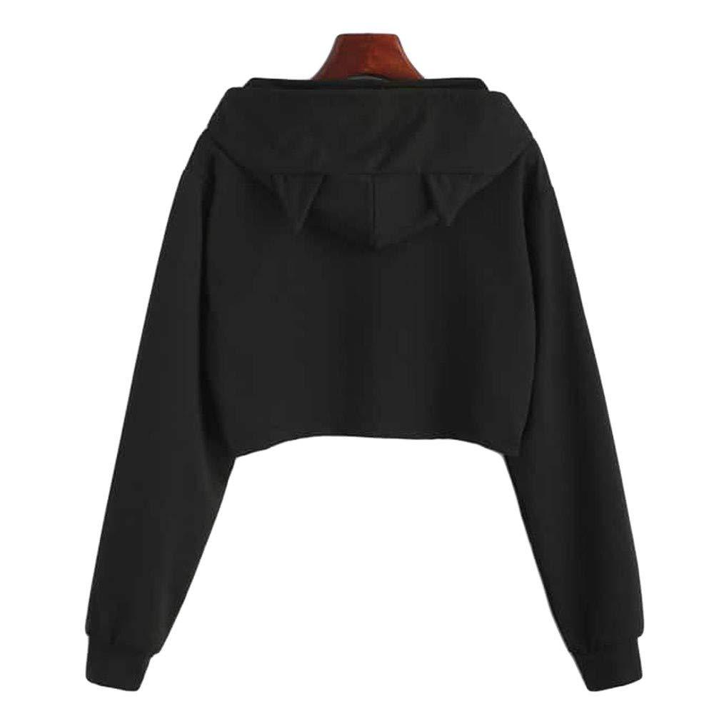 Aux Femmes Sweat /à Capuche Sweat-Shirt Rovinci Mode Chat Brod/é Poche Manche Longue Lautomne Gagnant D/écontract/ée Encapuchonn/é Tops Pullover Chemisier