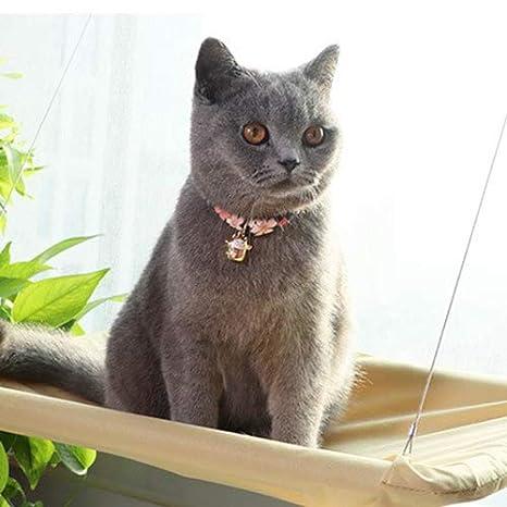 QNMM Gato Lindo Ventana Hamaca Mascota Colgando Cama Cojinete 20 Kg Gato Soleado Asiento Ventana Montaje Gato Mascota Hamaca Cómodo Gato Mascota Cama: ...