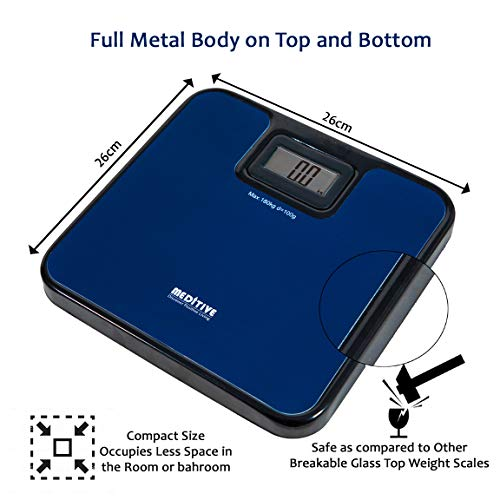 MEDITIVE Digital Human Weighing Scale for Body weight, Durable Unbreakable Metal Platform, Not made of Glass, (Minimum Weight: 7Kg, Maximum Weight: 180 Kg) (B084TF5TQ5) Amazon Price History, Amazon Price Tracker