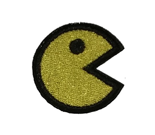 J&C Family Owned Pacman Yellow Embroidered Sew/Iron-on Patch