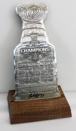 Patrice Bergeron Boston Bruins Signed Autographed Stanley Cup Aluminum Ticket