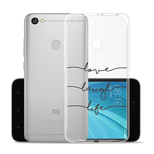 Cover para XiaoMi RedMi Note 5A Prime 5.5 , WenJie Ultrafino Transparente Patrón de dibujos animados TPU Silicona Suave Funda Case Tapa Caso Parachoques Carcasa Cubierta para XiaoMi RedMi Note 5A Pri WM92