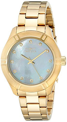 (Invicta Women's 18324 Pro Diver Gold-Tone Stainless Steel Watch)