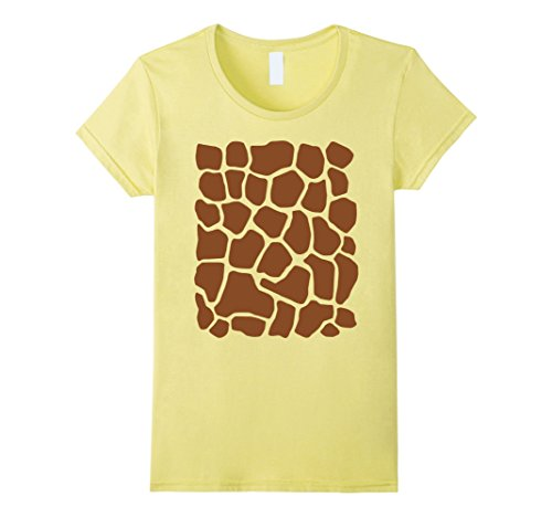 Cute Simple Costumes For Halloween (Womens Giraffe Print Simple Halloween Costume Cute T-shirt XL Lemon)